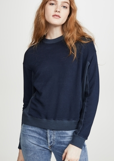MONROW Contrast Supersoft Sweatshirt