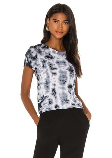 MONROW Crystal Tie Dye Fitted Crew Top