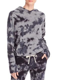 Monrow Crystal Tie-Dye Hooded Sweatshirt