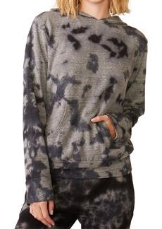 Monrow Crystal Tie Dye Pullover Hoodie