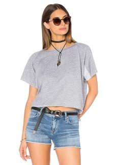 MONROW Cut Off Mini Raglan Sweatshirt
