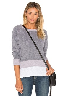 MONROW Double Layer Raglan in Gray. - size L (also in M,S,XS)