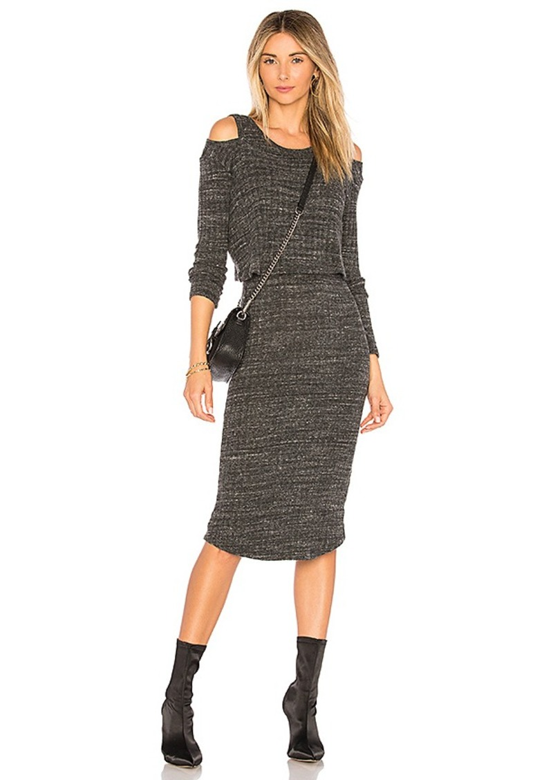 Elbow Slash Sweater Dress in Black. - size S (also in M) Monrow