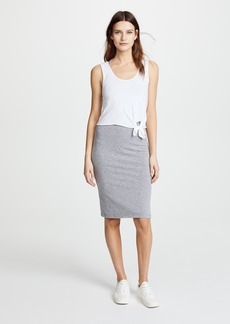 MONROW Double Layer Tank Dress with Knot