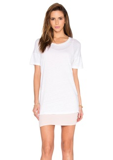 MONROW Double Layer Tee Shirt Dress