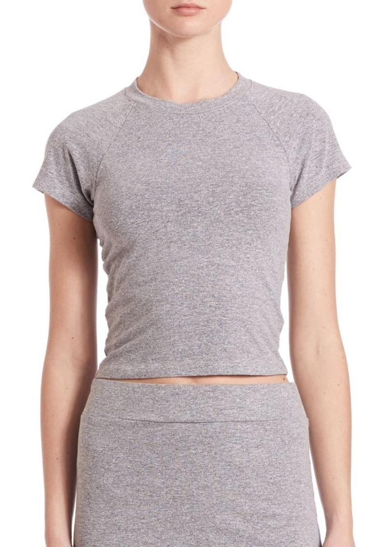 MONROW Fitted Stretch Crop T-Shirt