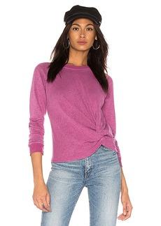 MONROW Front Twist Sweatshirt