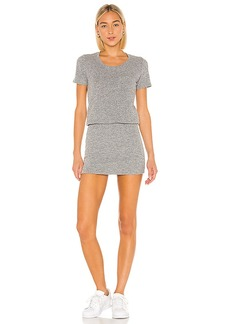 MONROW Granite Thermal Pocket T Dress