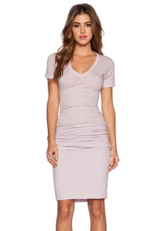 MONROW Heritage V Neck Dress