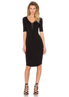 MONROW Jersey Lace Up Dress