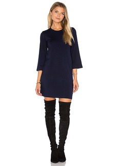 MONROW Long Sleeve Mini Dress in Navy. - size M (also in S,XS)