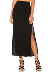 MONROW Long Slit Skirt