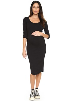 MONROW Maternity Long Sleeve Dress