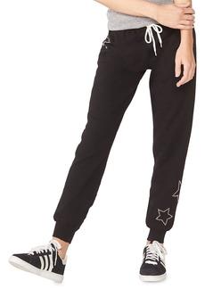 Monrow Maternity Star-Studded Sweatpants