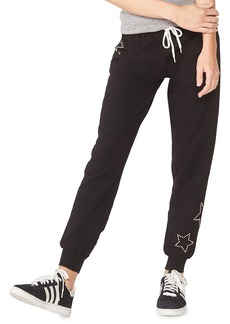 Monrow Maternity Star-Studded Sweatpants