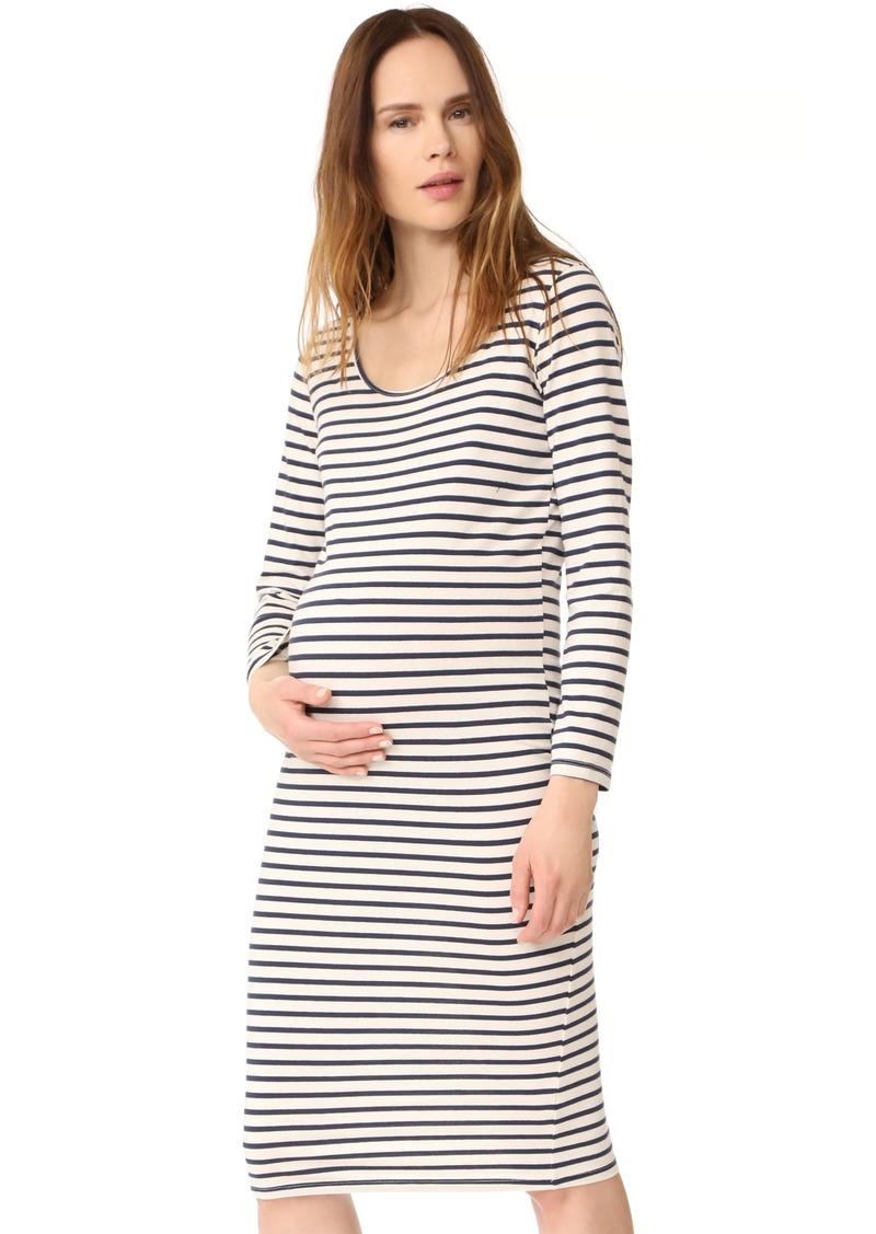 d9a5b10e8a9b8 Monrow MONROW Maternity Stripe Long Sleeve Dress | Dresses