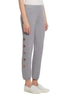Monrow Metallic Star Sweatpants