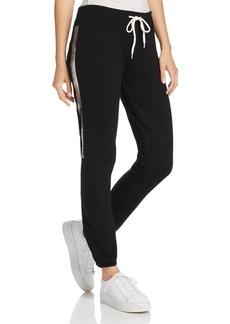 Monrow Metallic-Stripe Vintage Sweatpants