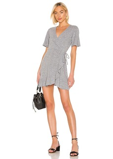 MONROW Mini Ruffle Wrap Dress