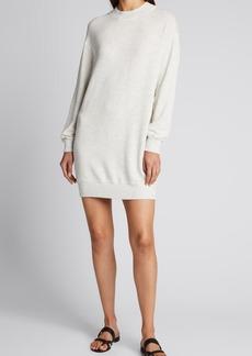 Monrow Mock-Neck Sweatshirt Dress