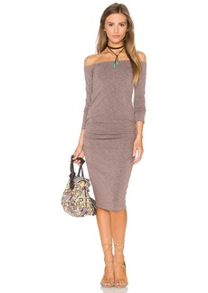 MONROW Off The Shoulder Midi Dress