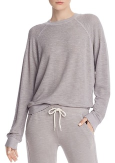Monrow Open-Knit Mesh Sweatshirt