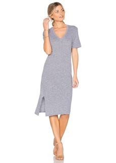 Monrow Oversized Knot Tee Dress