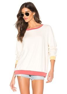MONROW Oversized Raglan Sweatshirt