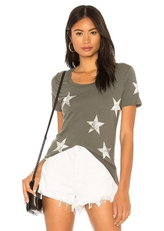 MONROW Oversized Star Relaxed Crew