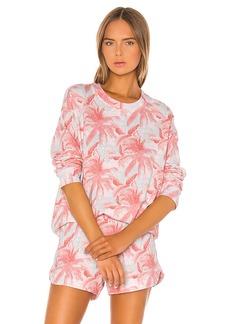MONROW Palm Seamed Sweatshirt
