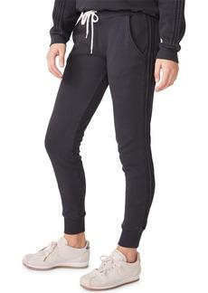 Monrow Pintuck Sporty Drawstring Sweatpants