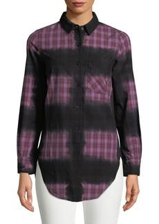 Monrow Printed Button-Down Shirt
