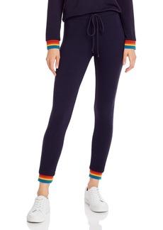 Monrow Rainbow-Cuff Sweatpants