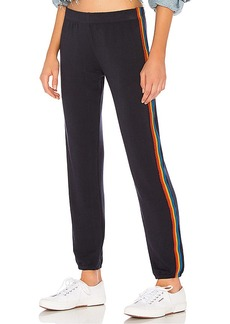 MONROW Rainbow Stripe Elastic Waist Sweats