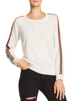 Monrow Rainbow-Stripe Sweatshirt