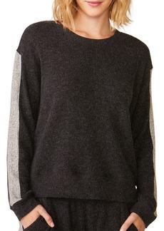 Monrow Relaxed Side-Stripe Sweatshirt