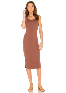Monrow Scoop Neck Rib Tank Dress