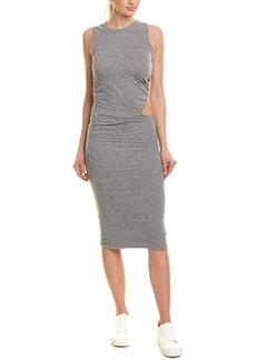 Monrow Shirred Midi Dress