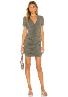 MONROW Shirred V Dress