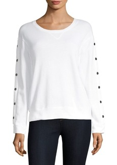 Monrow Snap Sleeve Pullover