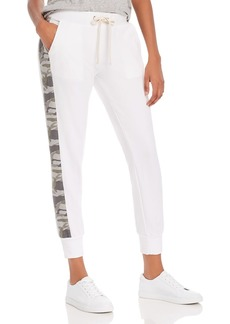Monrow Sporty Camo-Stripe Sweatpants