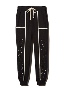 Monrow Star-Panel Sweatpants