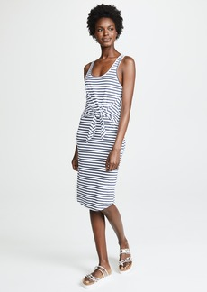 MONROW Stripe Dress with Tie Front