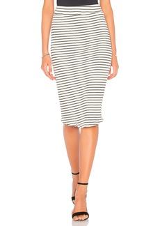 Monrow Stripe Rib Pencil Skirt