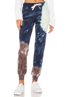 MONROW Sun Burst Tie Dye Basic Cuff Sweats
