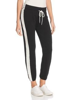 Monrow Supersoft Contrast-Stripe Sweatpants