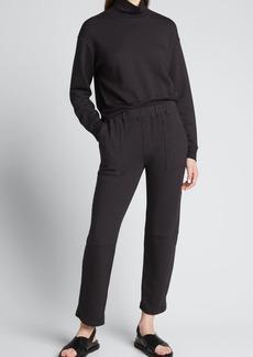 Monrow Supersoft Fleece Sweatpants with Seam Details