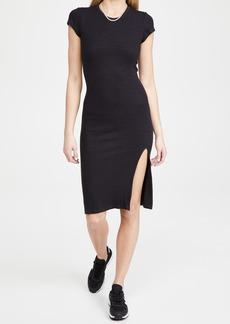 MONROW Supersoft Rib Cap Sleeve Dress