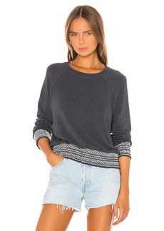 MONROW Supersoft Smocked Waist Raglan Sweatshirt