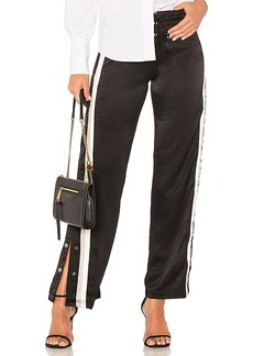 MONROW Tear Away Track Pant in Black. - size XS (also in L,M,S)